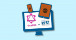 graphql vs rest monitor, tablet, and phone